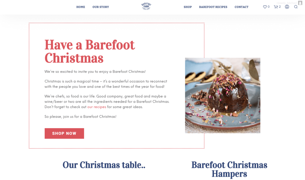 Christmas campaign landing page